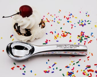 Wedding Ice Cream Scoop Great Wedding gift for a new Married Couple  Custom engraved personalized wedding present for the wedding reception