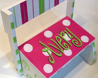 Personalized Girl's  Step Stool