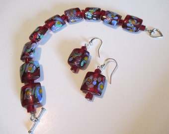 Exotic Bracelet and Earrings Set
