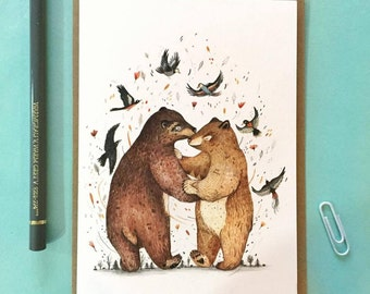 Bear Dance // Greeting Card