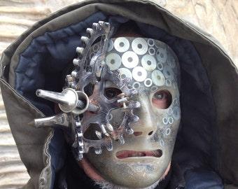 Steampunk Mask, Techno Mask, Masquerade Cyberpunk Mask, Steampunk, Accessories Mask, Scifi Armor, Halloween Mask Futuristic, Cybergoth Mask