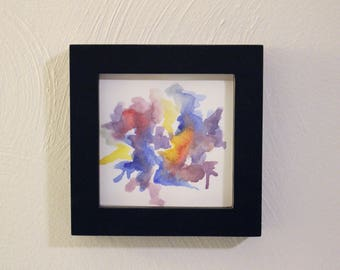 Watercolor, abstract, black frame