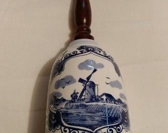 Delftware Handwork Designed by Elesva Windmill Bell