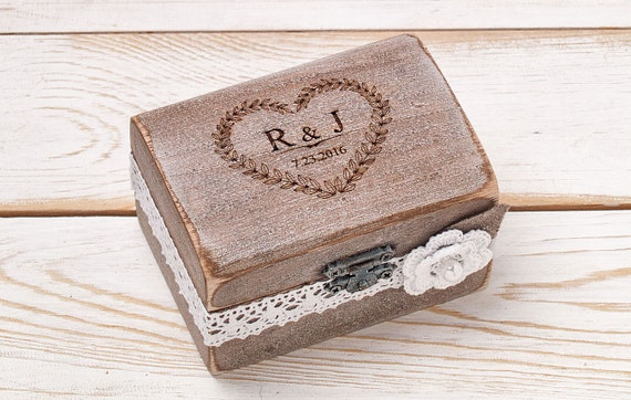 wedding ring bearer box wedding ring box rustic ring box. Black Bedroom Furniture Sets. Home Design Ideas