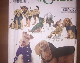 Simplicity Sewing Pattern 9850 Dog Trench, Ski, Polo, Chesterfield, Fur, Jean, Duffle and Stadium Coats