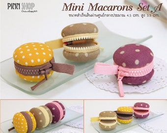 "Kit & tutorial Couture ""Mini macaroons"" - 4.5 cm in diameter - BEGINNER"