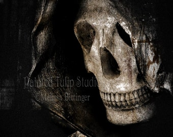 Grim Reaper Angel of Death Spooky Dark Goth Macabre Art Photographic Print
