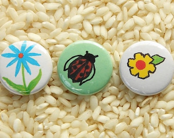 Nature Buttons - Set of 3