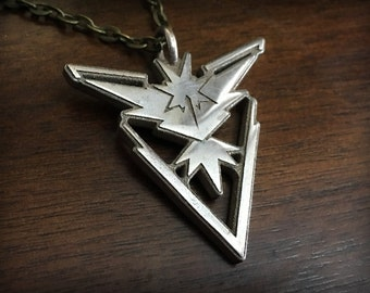 Pokemon Go Team Instinct 3D Printed Stainless Steel Pendant and Keychain