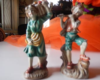 ITALY BOY and GIRL Figurines