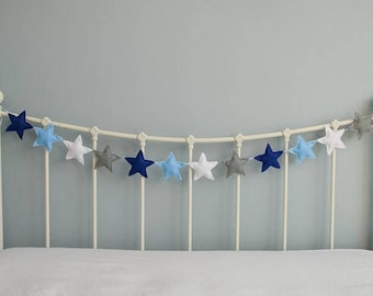 Star Garland - felt star garland - star bunting - felt garland - nursery decor - childrI en's decor - photo prop - handmade - MADE TO ORDER