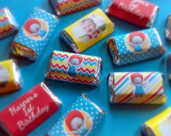 Ella the Elephant Miniature Candy Bar Wrappers