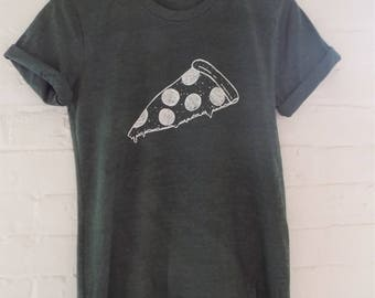 Pizza T-Shirt, Foodie Gift, Screen Print Shirt, Clothing Gift, Funny Shirt, Soft Style Tee