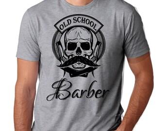 Old School Barber T-Shirt Gift For Barber Hipster Barber Shop Tee Shirt