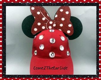 Custom Minnie Ears Hat Custom Mickey Ears Hat Mickey Baseball Cap Mickey Baseball Hat Minnie Bow Disney Minnie Ears Mickey Ears Baseball Cap