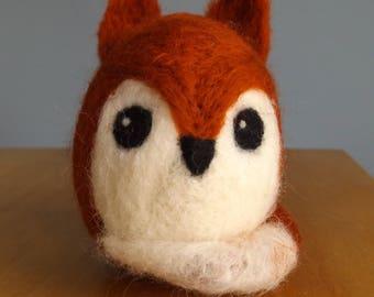 Handemade Needle Felted Mr Fox