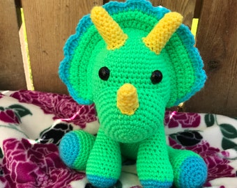 Crocheted green dino
