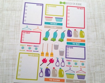 Cleaning and Laundry Kit Stickers (45 stickers) Item #022