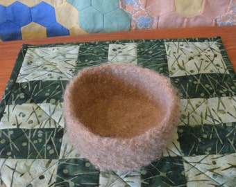 Felted Bowl in a natural camel