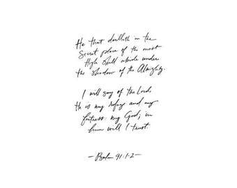 PSALM 91 // 8x10 Print