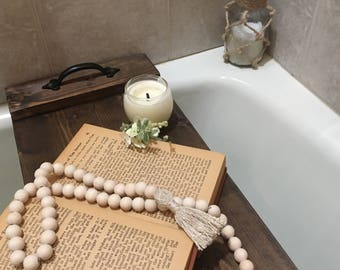 Bath Tray, Bathtub, Caddy, Farmhouse Decor, Mothers Day Gift