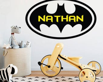 Superb Batman Name Wall Decal   Kids Vinyl Wall Decal   Batman Wall Art    Superhero Spiderman Disney Avengers Decor   Boys Bedroom Decor