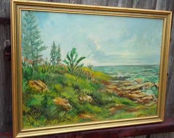 Large Original Oil Painting Picture Sea