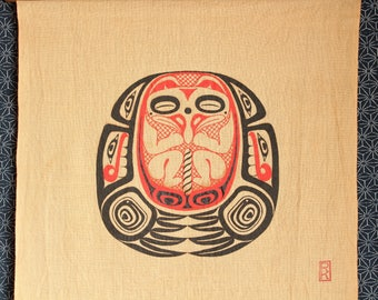 Raven Fetus - Wall Hanging - First nations art
