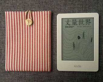 Kindle Paperwhite Case, Pink Stripe Kindle Cover, Kindle Voyage Sleeve,Kindle Oasis, Kindle Pad Case, Kindle Case