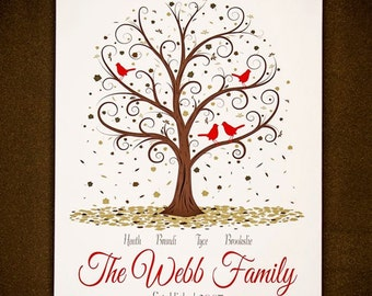 Family Tree - 18x24 - Personalized Family Tree Print
