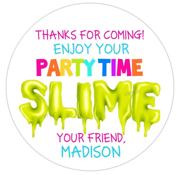 Slime stickers slime partyslime favorspersonalized