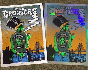 The Growlers - San Francisco - 2017 gigposter, FOIL VARIANT!!!