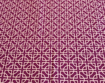 Richloom Imperial Orchid Quilting Fabric - Traditional Print - Orchid Purple with White Design - Cotton Quilting Fabric By The Yard - BHY