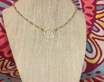 Gold circle in crystals