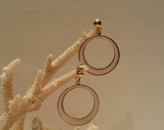 Vintage mod retro pink earrings