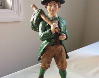 "HTF Rare ""Irishman Grady"" ~ St Patrick's Day Deco ~ ESC Trading Co. 2002 With Tag Still On It!"