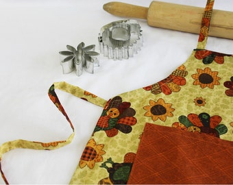Turkey Child Apron with pocket