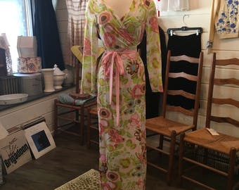 Vintage Polyester nightgown and Robe Set by Sears
