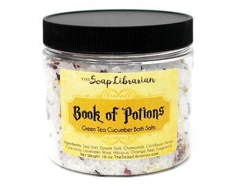 Book of Potions Bath Salts - Green Tea Cucumber
