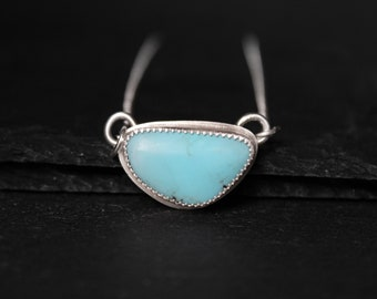 READY TO SHIP - Campitos Turquoise Sterling Silver Necklace | Boho Bohemian Minimalist | Gugma Jewelry