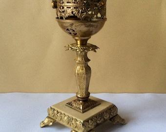 Old Beautiful Russian Orthodox Bronze  Icon Sanctuary lamp.Lampada.