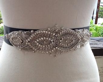 Beaded Bridal Rhinestone Sash,Bridal Sash Belt, Wedding Crystal Belt, Wedding sash,Bridal Sash,Wedding Bridal Belt Sash