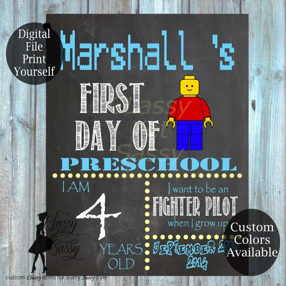 First Day Of School Chalkboard Sign 184