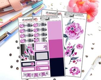 Pink & Black Mini Deco Kit for Erin Condren Life Planner/Planners