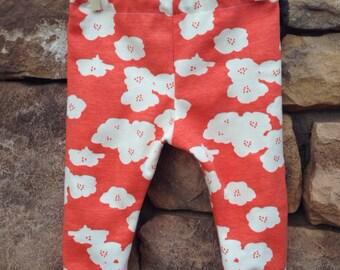 Baby girl leggings, organic baby girl leggings, floral leggings, baby girl clothing, baby girl clothes