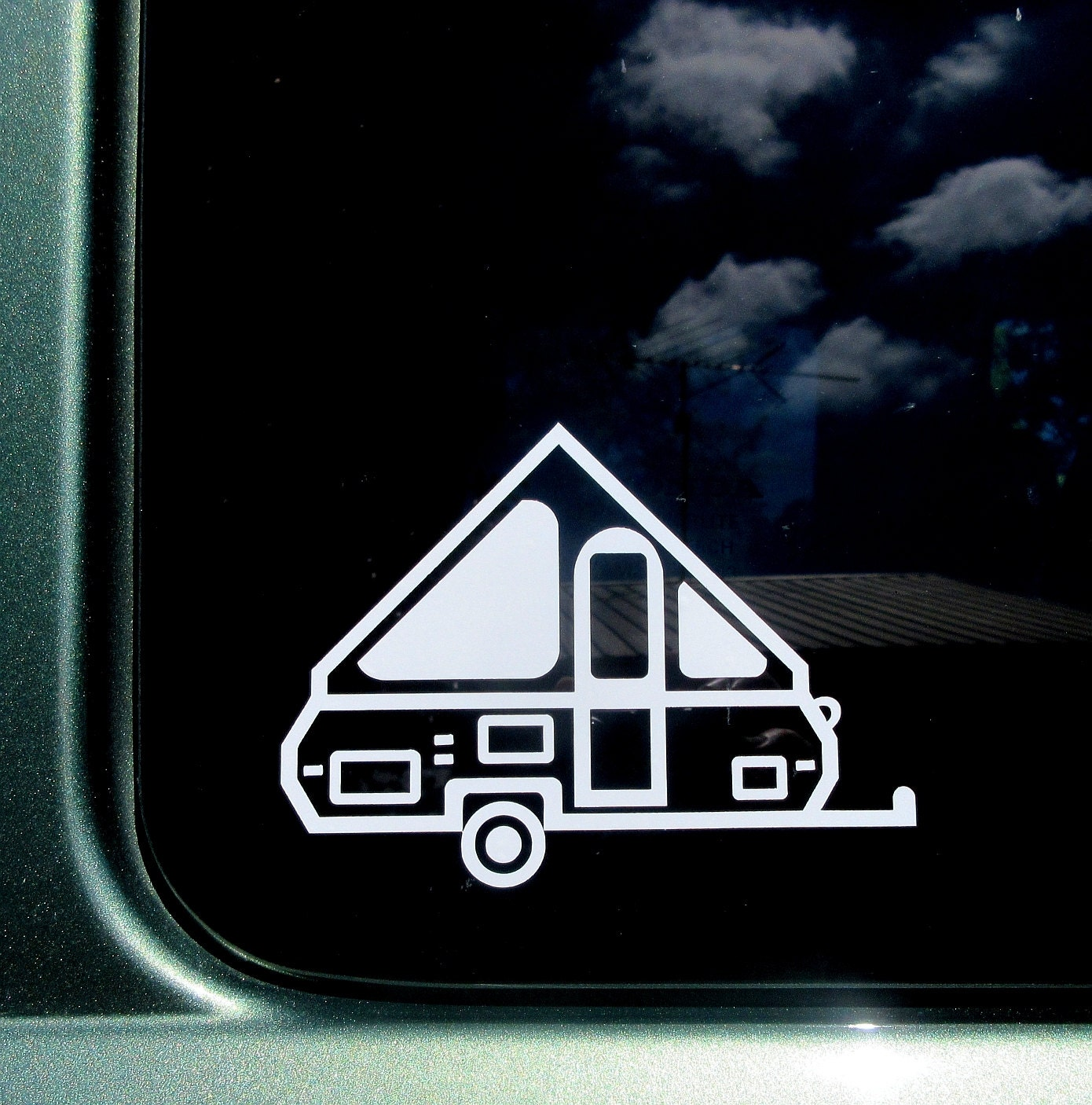 A-Frame Pop Up Camper Decal A-Frame Car Window Sticker