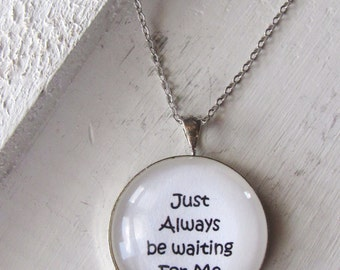 Wait For Me Necklace, infant loss, child loss, baby loss keepsakes, miscarriage, stillborn, child loss jewelry, handmade