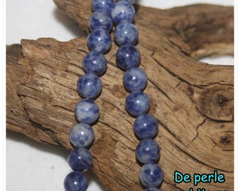 10 PCs - 4 mm or 6 mm Sodalite Bead semi precious stone blue and white gemstone bead sodalite 6 mm round beads 4 mm bead