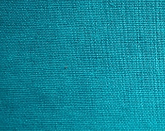 "Turquoise Linen Fabric 60"" Wide 15 Yards Wholesale"