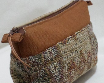 Tapestry with Cinnamon Trim Cosmetic Bag, Zippered Pouch, Makeup Bag, gift ideas for women